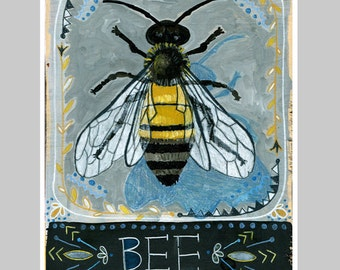 Animal Totem Print - Bee