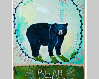 Animal Totem Print - Bear