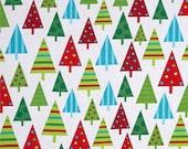 Kaufman Jingle Trees Winter Christmas Fabric ,Clothing fabric, quilting fabric, crafting fabric,By the Yard, Half Yard ,Fat Quarter, #105