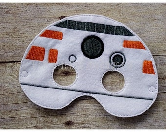 BB8 Droid Mask Felt Mask  Pretend Play  Creative Play Mask Halloween Mask Easter Basket