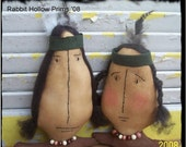 ChristmasinJuly Sale Primitive Thanksgiving Indians Tonto and Sacajawea