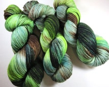 Hand Dyed Ultra Merino Superwash Sock Fingering Yarn -- Once In The Highlands (Outlander)