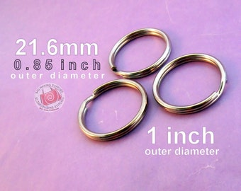 100 pieces 21.6mm split rings / key rings (available in nickel, antique brass, and copper finishes)