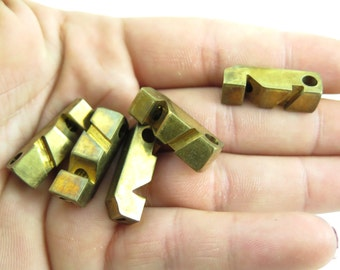 Vintage Brass Whistle Pendants (1X) (V205)