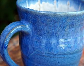 Potters Wheel Ceramic Hand Made Stoneware Mug Coffee or Tea Cup