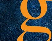 Custom copper letter art