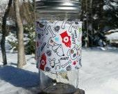 Mason Jar cozy / mason jar sleeve / fabric jar cozy - Dogs