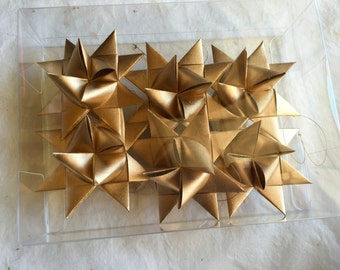 Moravian Paper Star Ornaments Gold (3 inch)