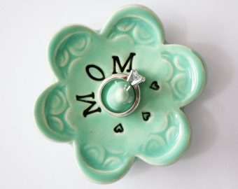 Mom ring dish - Gift for Mom - Keepsake Ring Dish - Ready to Ship,  Gift box included