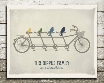 ANNIVERSARY Gift for Him or Her - Gift Print for Husband or Wife - Birds on a Bicycle Print- As Seen In Pregnancy and Newborn Magazine