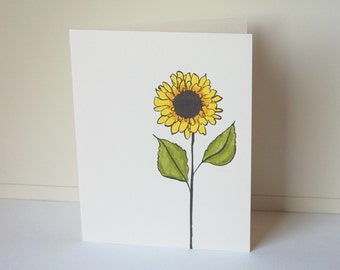 Sunflower Note Cards, Blank Note Card Set, Floral Cards, Flower Cards, Note Cards, All Occasion Cards, Thank You Cards, Handmade Cards