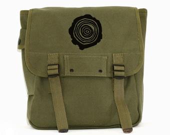 Backpack, Tree Rings, Canvas Rucksack, Travel Bag, Mens Gift, Men's Laptop Backpack, Women's Backpack, Hiking Gear, Back to School