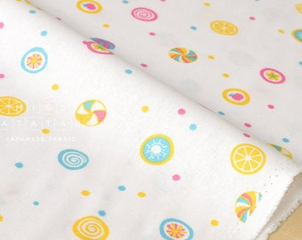 Japanese Fabric - Candy canvas - white - 50cm