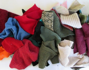 Recycled sweaters - supplies - fabric - crafts - doll making - destash - DIY - wool - cotton - cashmere