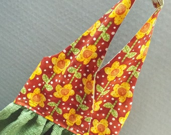 Hanging Dish Towel Summer Flowers Fabric