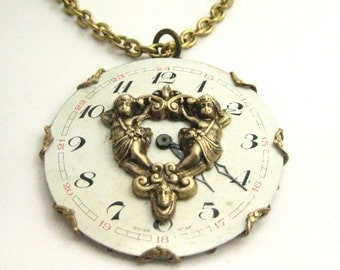 Angels ... Steampunk Angel Antique Watch Dial One of a Kind Creation