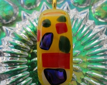 Dichroic Glasss Fused Pendant