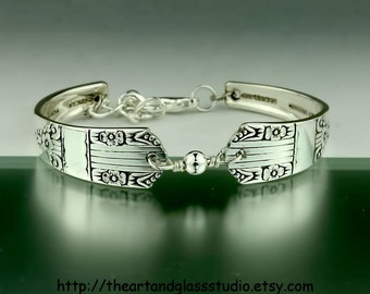 Silver Spoon Bracelet HARMONY Jewelry Vintage, Silverware, Gift, Anniversary, Wedding, Birthday