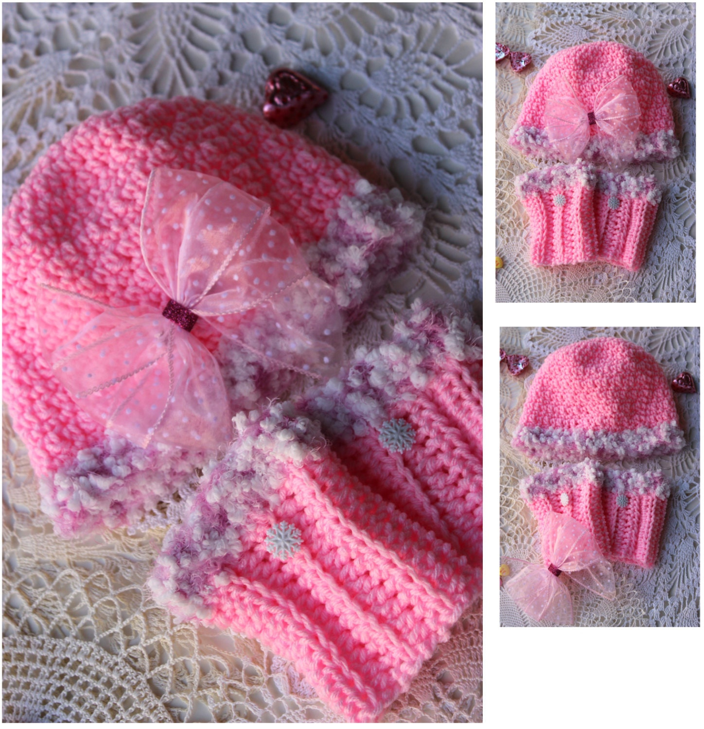 Crochet Hat Pattern With Cuff : Crochet Hat and Boot Cuff Pattern 3 sizes by PatternsByKrissy