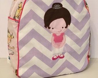 Handmade Ballerina Backpack  -Ready to Ship