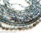 Free Shipping Destash - 9 Strand Lot Plus Loose Beads- Labradorite Natural Gemstones