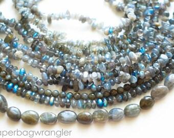 Free Shipping Destash - 9 Strand Lot Plus Loose Beads- Labradorite Natural Gemstones