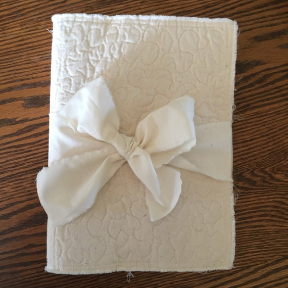 Fabric Art Journal Blank Cotton book quilted