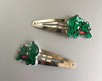 Bulbasaur - Pokémon barrettes or bobbypins