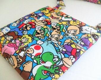 Sling messenger bag - Nintendo -Messenger Bag - Ipad Bag - Crossbody - Nintendo Bag - Super Mario