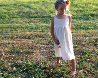 Custom Linen Formal Dress - Sewn to Order in 6 colors - sizes 12m to 7