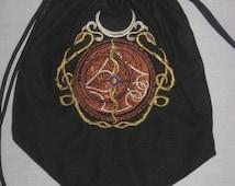 Steampunk Alchemy Astrolabe Drawstring Bag