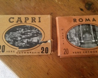Vintage Italian Photography Post Cards