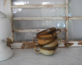Vintage Handcrafted Ceramic Cafe Au Lait Bowls Mugs Cups ~ 4