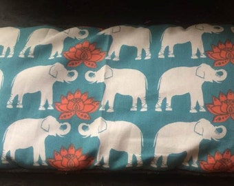 FREE Shipping - Limited edition Lotus and Elephant Lavender Eye Pillow