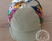 Standard Cotton Cycling Cap (Adventure Time with light mint panels)