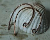 antique copper earwire size 25x20mm 20g thick, 8 pcs (item ID YHEWAC)