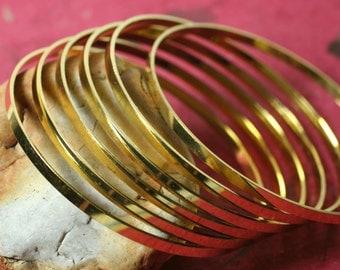 Gold plated stacking bangle bracelet blank (item ID FA01265GP)