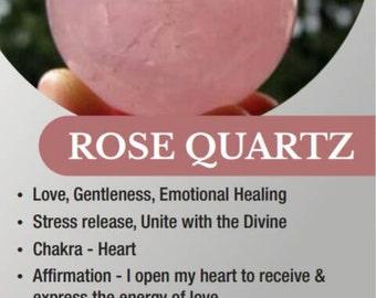 Rose Quartz Meaning Etsy