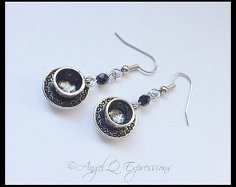 Must...Have...Coffee...The Java Junkie's Caffeine Cup and Saucer Charm Earrings in Straight-Up Black