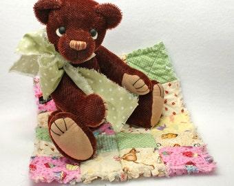 Thomas Artist teddybear  Christmas Jointed Mohair Vintage