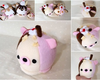 Mini Cute Scoops- Neapolitan Ice Cream-  READY TO SHIP