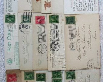 16 Vintage Postcards..Vacation..Travel..1906