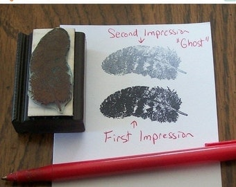 Clearance Feather Rubber Stamp 011