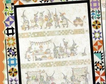 The Mystery Of The Salem Witches' Quilt Guild - By Meg Hawkey - From Crab-Apple Hill (348) - Quilt Assembly Pattern - 9.00 Dollars
