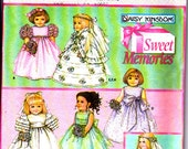 """Simplicity 5266 Daisy Kingdom 18"""" Doll Clothes Party Wedding Prom Quinceanera Dresses Sewing Pattern Out of Print UNCUT"""