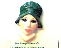 Porcelain Doll Face ~ Doll Making Supplies - Hand Painted and Glazed  S-44