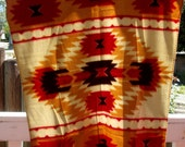 Vintage Fleece Tribal Blanket-St. Labre Indian School