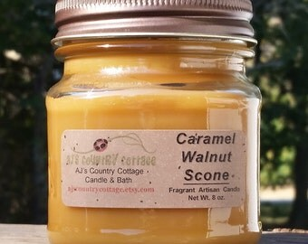 CARAMEL WALNUT SCONE Candle - Strong