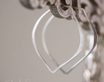 Bud Earrings-- forged and hammered sterling silver