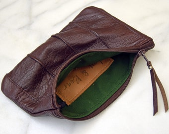 Upcycled leather Pouch